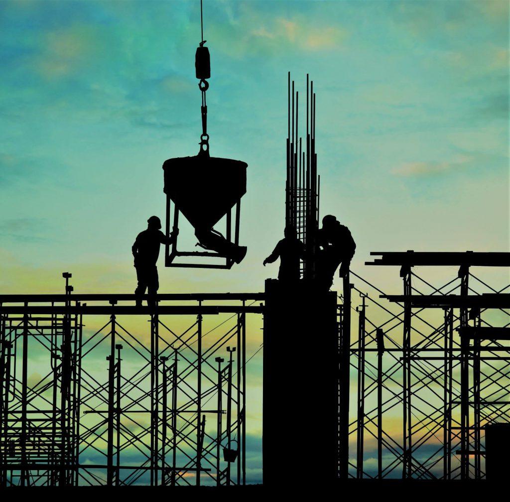 یک ساختمان در حال ساخت